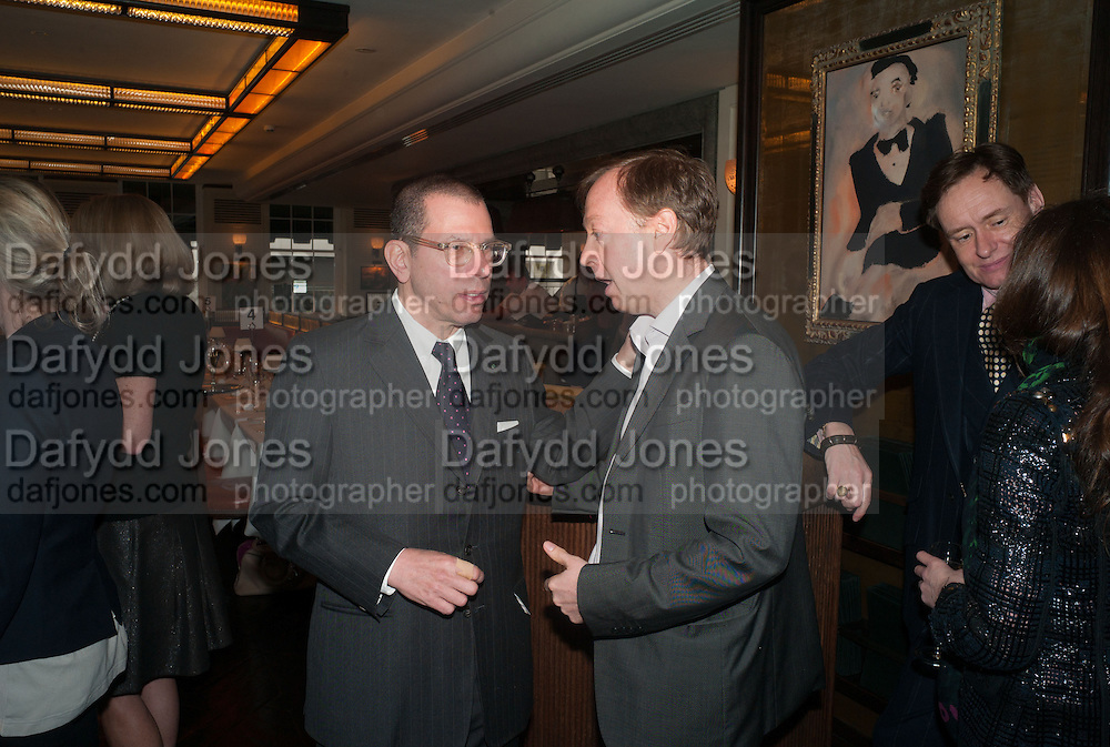 JONATHAN NEWHOUSE; GEORDIE GREIG, Vanity Fair Lunch hosted by Graydon Carter. 34 Grosvenor Sq. London. 14 May 2013