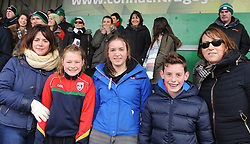 Ballinrobe supporters Marie and Aoife O&rsquo;Neill, Emily Boyle, Joe O&rsquo;Toole and Marie O&rsquo;Boyle at the Connacht rugby finals at the Sportsground in Galway. <br /> Pic Conor McKeown