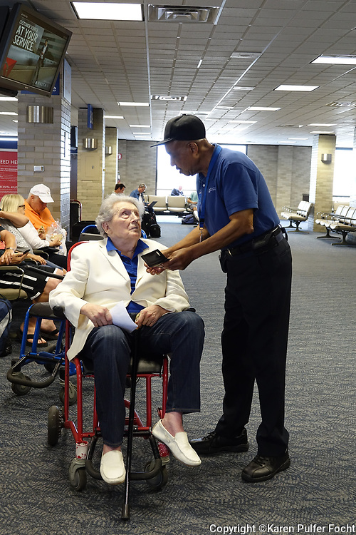 A man seeks an autograph from Rock and Roll Legend Jerry Lee Lewis,81, as he prepares to board a plane to New York in Memphis, Tennessee. The mans name was also Jerry Lee. Lewis, who is also known as The Killer,  still performs on occasion, is the last living member of the Million Dollar Quartet, who recorded at Sun Records in Memphis, Tennessee with Sam Phillips. The other artists were Elvis Presley, Johnny Cash, and Carl Perkins.
