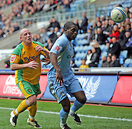 Coventry - Saturday, March 8th, 2008: Isaac Osbourne of Coventry City and Matthew Pattison of Norwich City during the Coca Cola Championship match at the Ricoh Arena, Coventry. (Pic by Paul Hollands/Focus Images)