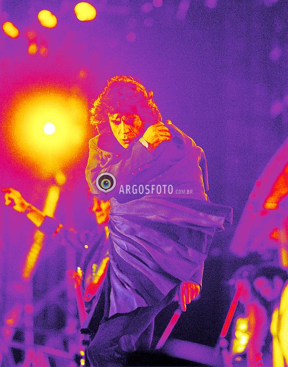 Sao Paulo, SP, Brasil -Jan/1995.Show dos Rolling Stones  em SP, turne, The Voodoo Lounge Tour - Mick Jagger./ Rolling Stones concert, The Voodoo Lounge Tour, SP.Foto © Marcos Issa/Argosfoto