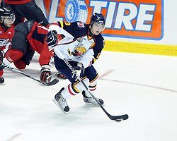 Kyle Clifford of the Barrie Colts in Game 3 of the Rogers OHL Championship Series in Windsor on Sunday May 2. Photo by Aaron Bell/OHL Images