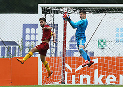 November 27, 2018 - Rome, Italy - AS Roma - FC Real Madrid : UEFA Youth League Group G .Salvatore Pezzella of Roma and Diego Altube of Real Madrid at Tre Fontane Stadium in Rome, Italy on November 27, 2018. (Credit Image: © Matteo Ciambelli/NurPhoto via ZUMA Press)