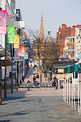 Sheffield on the first day emergency measures which were announced by Prime minister Boris Johnson on Monday evening (24th march) <br /> Sheffield Markets at Bottom of the Moor <br /> 25 March 2020<br /> <br /> www.pauldaviddrabble.co.uk<br /> All Images Copyright Paul David Drabble - <br /> All rights Reserved - <br /> Moral Rights Asserted -