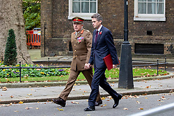 © Licensed to London News Pictures. 06/11/2018. London, UK. Head of Army, General Sir Nick Carter and Defence Secretary Gavin Williamson in Downing Street. Photo credit : Tom Nicholson/LNP