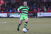 Forest Green Rovers Haydn Hollis(32) during the EFL Sky Bet League 2 match between Accrington Stanley and Forest Green Rovers at the Wham Stadium, Accrington, England on 17 March 2018. Picture by Shane Healey.