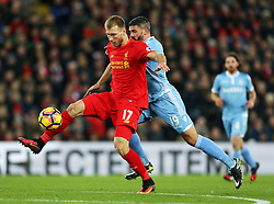 Ragnar Klavan of Liverpool and Jonathan Walters of Stoke City  - Mandatory by-line: Matt McNulty/JMP - 27/12/2016 - FOOTBALL - Anfield - Liverpool, England - Liverpool v Stoke City - Premier League