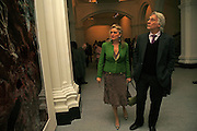 The Ambassador of Argentinia and his wife, USA Today. Saatchi Gallery and The Royal academy of Arts. Piccadilly. London. 5 October 2006. -DO NOT ARCHIVE-© Copyright Photograph by Dafydd Jones 66 Stockwell Park Rd. London SW9 0DA Tel 020 7733 0108 www.dafjones.com