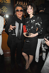 ROBERTO CAVALLI and singer SOPHIE ELLIS-BEXTOR at a party to celebrate the launch of Cavalli Selection - the first ever wine from Casa Cavalli, held at 17 Berkeley Street, London W1 on 29th May 2008.<br /><br />NON EXCLUSIVE - WORLD RIGHTS