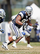 OXNARD, CA - AUGUST 17:  Defensive end Jason Hatcher #97 of the Dallas Cowboys rushes the passer during Dallas Cowboys training camp on August 17, 2006 in Oxnard, California. ©Paul Anthony Spinelli *** Local Caption *** Jason Hatcher