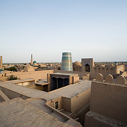 Skyline view of old city (Ichon Qala), Khiva