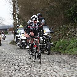 25-02-2017: Wielrennen: Omloop Het Nieuwsblad: Gent  <br />GENT (BEL) wielrennen<br />Ellen van Dijk in een ontsnapping