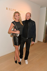 NOELLE RENO and SCOT YOUNG at an evening of Fashion, Art & design hosted by Ralph Lauren and Phillips at the new Phillips Gallery, 50 Berkeley Square, London on 22nd October 2014.
