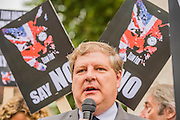 Angus Robertson MP - Ahead of Wednesday's free vote, Brian May (Queen guitarist and committed animal campaigner) and Angus Robertson MP, Leader of the SNP in Westminster – along with May's Save Me Trust, PETA, the RSPCA, the League Against Cruel Sports, Born Free, Lush and Humane Society International – protest in Westminster, urging policymakers to 'keep Britain humane by keeping the Hunting Act intact'. While there they hear that the vote has been postponed.