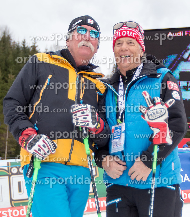 28.02.2016, Hannes Trinkl Rennstrecke, Hinterstoder, AUT, FIS Weltcup Ski Alpin, Hinterstoder, Riesenslalom, Herren, 2. Lauf, im Bild v.l. Ferdinand Hirscher, Prof. Peter Schröcksnadel (ÖSV Präsident) // v.l.t.r. Ferdinand Hirscher Peter Schroecksnadel Austrian Ski Association President after men's Giant Slalom of Hinterstoder FIS Ski Alpine World Cup at the Hannes Trinkl Rennstrecke in Hinterstoder, Austria on 2016/02/28. EXPA Pictures © 2016, PhotoCredit: EXPA/ Johann Groder