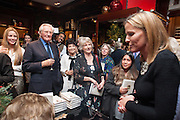 LORD HESELTINE;  INDIA HICKS , Book launch for ' Daughter of Empire - Life as a Mountbatten' by Lady Pamela Hicks. Ralph Lauren, 1 New Bond St. London. 12 November 2012.