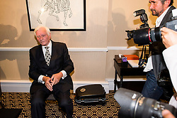 © Licensed to London News Pictures. 25/08/2015. London, UK. Ex-Tory MP Harvey Proctor during a press conference in central London after he was interviewed by police for a second time yesterday about a VIP child abuse probe. Photo credit: Ben Cawthra/LNP
