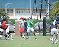 Ole Miss quarterback Devante Kincade (2) at football practice in Oxford, Miss. on Sunday, August 4, 2013.