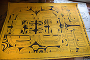 Tapa cloth, Marquesas, French Polynesia<br />