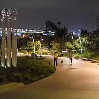 Tongva Park at night on Thursday, September 19, 2013.
