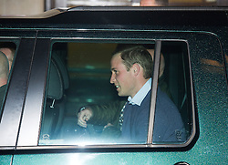 © London News Pictures. 04/12/2012. London, UK. A smiling Prince William entering a car as he leaves the King Edward VII Hospital  in London after visiting The Duchess Of Cambridge, Kate Middleton who is currently being treated for a type of severe morning sickness called hyperemesis gravidarum. The royal couple announced the pregnancy yesterday (Mon). Photo credit: Ben Cawthra/LNP