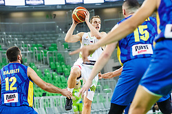 Kelemen Prepelic of Slovenia during qualifying match between Slovenia and Kosovo for European basketball championship 2017,  Arena Stozice, Ljubljana on 31th August, Slovenia. Photo by Grega Valancic / Sportida