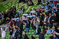 Melbourne City fans at the FFA Cup quarter-final soccer match between Melbourne City FC and Western Sydney Wanderers FC at AAMI Park in Melbourne.