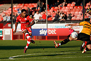 Goal, Ashley Nathaniel-George of Crawley Town scores, Crawley Town 4-1 Newport County during the EFL Sky Bet League 2 match between Crawley Town and Newport County at the Broadfield Stadium, Crawley, England on 20 October 2018.