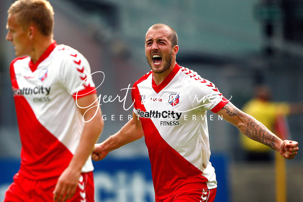 Onderwerp/Subject: FC Utrecht v AZ Alkmaar - Eredivisie<br /> Reklame:  <br /> Club/Team/Country: <br /> Seizoen/Season: 2013/2014<br /> FOTO/PHOTO: Steve DE RIDDER of FC Utrecht celebrating his first goal ( 1 - 0 ). (Photo by PICS UNITED)<br /> <br /> Trefwoorden/Keywords: <br /> #02 $94 &plusmn;1371811811150<br /> Photo- &amp; Copyrights &copy; PICS UNITED <br /> P.O. Box 7164 - 5605 BE  EINDHOVEN (THE NETHERLANDS) <br /> Phone +31 (0)40 296 28 00 <br /> Fax +31 (0) 40 248 47 43 <br /> http://www.pics-united.com <br /> e-mail : sales@pics-united.com (If you would like to raise any issues regarding any aspects of products / service of PICS UNITED) or <br /> e-mail : sales@pics-united.com   <br /> <br /> ATTENTIE: <br /> Publicatie ook bij aanbieding door derden is slechts toegestaan na verkregen toestemming van Pics United. <br /> VOLLEDIGE NAAMSVERMELDING IS VERPLICHT! (&copy; PICS UNITED/Naam Fotograaf, zie veld 4 van de bestandsinfo 'credits') <br /> ATTENTION:  <br /> &copy; Pics United. Reproduction/publication of this photo by any parties is only permitted after authorisation is sought and obtained from  PICS UNITED- THE NETHERLANDS