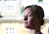 Edinburgh International Book Festival 2013 portait of Amity Gaige at Charlotte Square Garden. Schroder is composition coincided with a period of profound emotional turmoilrecounts.<br /> <br /> Pic by Pako Mera