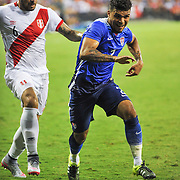 DEANDRE YEDLIN of the USA controls the ball during and international friendly between the United States and Peru at RFK Stadium in Washington, DC.