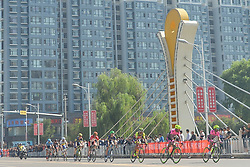 September 12, 2017 - Yunzhu, China - The breakaway group of riders during the second stage Jinzhong A to B race of the 2017 Tour of China 1, the 197km from Dazhai to Yunzhu. .On Tuesday, 12 September 2017, in Yunzhu, Xiyang County, Shanxi Province, China. (Credit Image: © Artur Widak/NurPhoto via ZUMA Press)