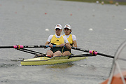 Munich, GERMANY, 2006, FISA, Rowing, World Cup, AUS W2- , bow Robyn Selby Smith and Jo Lutz,  , held on the Olympic Regatta Course, Munich, Thurs. 25.05.2006. © Peter Spurrier/Intersport-images.com,  / Mobile +44 [0] 7973 819 551 / email images@intersport-images.com.[Mandatory Credit, Peter Spurier/ Intersport Images] Rowing Course, Olympic Regatta Rowing Course, Munich, GERMANY