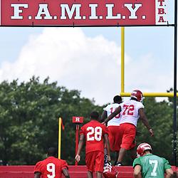 Aug 11, 2009; Piscataway, NJ, USA;  Rutgers football summer training camp day 1.