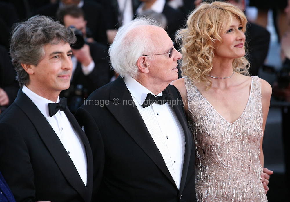 Director Alexander Payne, Actor Bruce Dern and Actress Laura Dern.at the 'Nebraska' film gala screening at the Cannes Film Festival Thursday 23rd May 2013