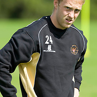 St Johnstone Training...07.08.09<br /> Steven Anderson<br /> <br /> Picture by Graeme Hart.<br /> Copyright Perthshire Picture Agency<br /> Tel: 01738 623350  Mobile: 07990 594431