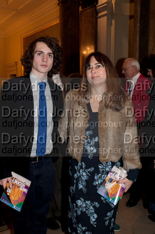 SAMUEL SPIKE; ALEX SHULMAN, Opening of David Hockney ' A Bigger Picture' Royal Academy. Piccadilly. London. 17 January 2012