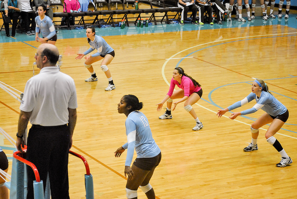 10/18/2013 - Cousens Gym, Tufts Medford campus - The volleyball home game where Tufts defeats Hamilton 25-12. Caroline Geiling / The Tufts Daily
