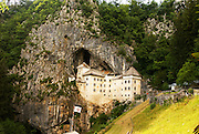 Predjama Castle, a Renaissance castle built within a cave mouth in south-central Slovenia