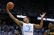 01 December 2015: North Carolina's Kennedy Meeks. The University of North Carolina Tar Heels hosted the University of Maryland Terrapins at the Dean E. Smith Center in Chapel Hill, North Carolina in a 2015-16 NCAA Division I Men's Basketball game. UNC won the game 89-81.
