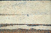 Beach at Gravelines', 1890. Georges-Pierre Seurat (1859-1891) French Neo-Impressionist painter. Pointillism