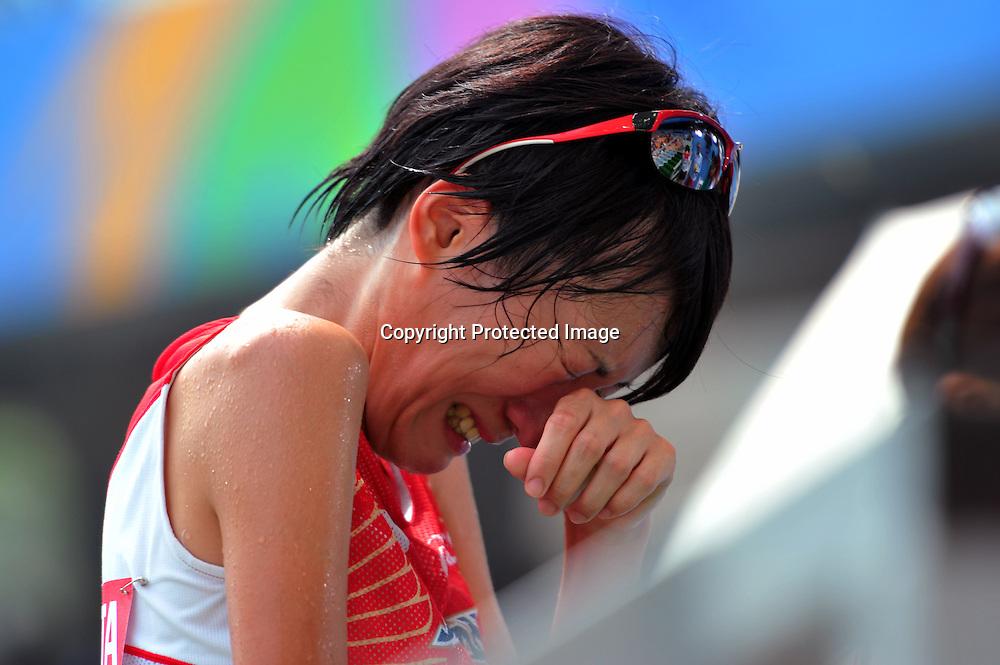 Megumi Kinukawa (JPN),AUGUST 30, 2011 - Athletics :The 13th IAAF World Championships in Athletics - Daegu 2011, Women's 5000m Round 1 at the Daegu Stadium, Daegu, South Korea. (Photo by Jun Tsukida/AFLO SPORT) [0003]