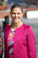 Stockholm, 22-09-2015<br /> <br /> Crown Princess Victoria (Pregnant ) arrived at the Karolinska Institute in STockholm<br /> Photo: Royalportraits Europe/Bernard Ruebsamen