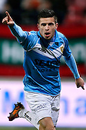 Onderwerp/Subject: Eredivisie<br /> Reklame:  <br /> Club/Team/Country: <br /> Seizoen/Season: 2012/2013<br /> FOTO/PHOTO: Brian LINSSEN of VVV Venlo celebrating his goal ( 1 - 2 ). (Photo by PICS UNITED)<br /> <br /> Trefwoorden/Keywords: <br /> #02 #09 $94 ±1355229055132<br /> Photo- & Copyrights © PICS UNITED <br /> P.O. Box 7164 - 5605 BE  EINDHOVEN (THE NETHERLANDS) <br /> Phone +31 (0)40 296 28 00 <br /> Fax +31 (0) 40 248 47 43 <br /> http://www.pics-united.com <br /> e-mail : sales@pics-united.com (If you would like to raise any issues regarding any aspects of products / service of PICS UNITED) or <br /> e-mail : sales@pics-united.com   <br /> <br /> ATTENTIE: <br /> Publicatie ook bij aanbieding door derden is slechts toegestaan na verkregen toestemming van Pics United. <br /> VOLLEDIGE NAAMSVERMELDING IS VERPLICHT! (© PICS UNITED/Naam Fotograaf, zie veld 4 van de bestandsinfo 'credits') <br /> ATTENTION:  <br /> © Pics United. Reproduction/publication of this photo by any parties is only permitted after authorisation is sought and obtained from  PICS UNITED- THE NETHERLANDS