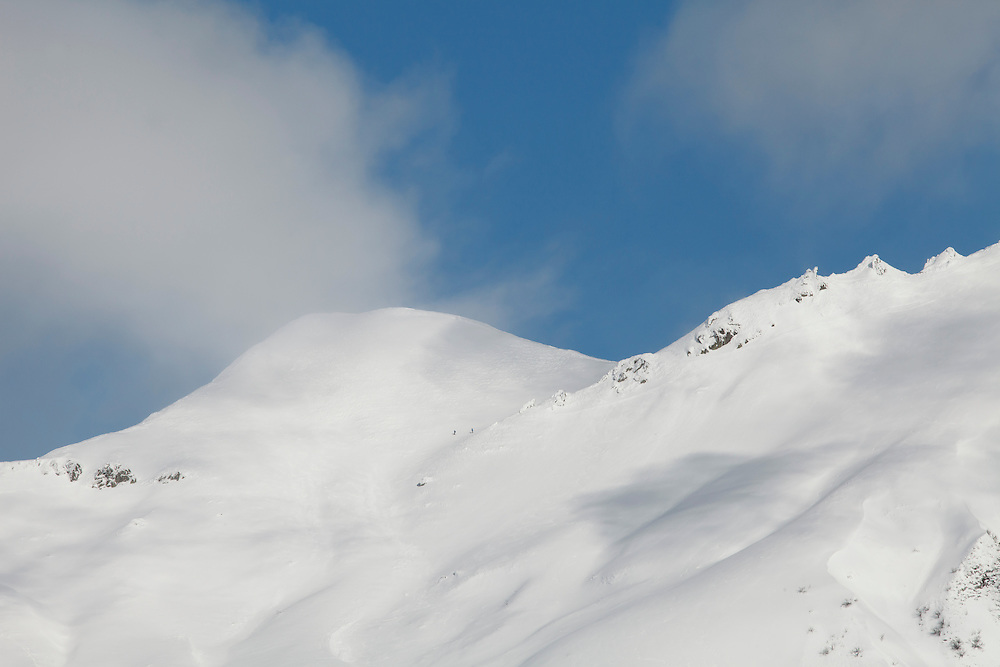 Sancy tops with some clouds against a blue sky