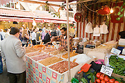 Turkey, Istanbul, The Spice Bazaar a stall selling nuts