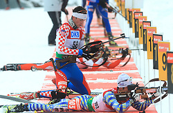 Croatian atlete Jakov Fak at Men 20 km Individual at E.ON Ruhrgas IBU World Cup Biathlon in Hochfilzen (replacement Pokljuka), on December 18, 2008, in Hochfilzen, Austria. (Photo by Vid Ponikvar / Sportida)