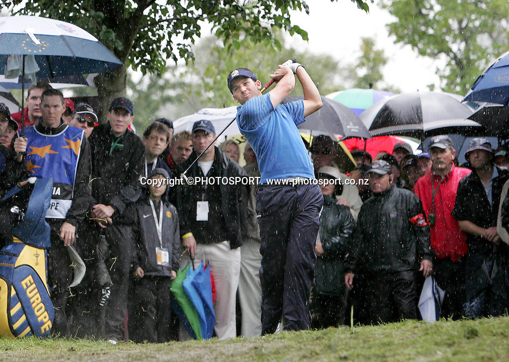 Ryder Cup Day Two, K Club 23/9/2006<br /> Sergio Garcia hits out of the rough on the 16th fairway<br /> Mandatory Credit &copy;INPHO/Morgan Treacy<br /> RYDER CUP<br />  ***FOR EDITORIAL USE ONLY. NO USAGE FOR MOBILE PHONE OPERATORS**