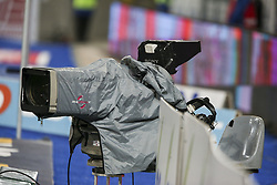 November 3, 2018 - Strasbourg, France - manifestation cameras tv, during the French Ligue 1 football match between Strasbourg (RCSA) and Toulouse (TFC) on November 3, 2018 at the Meinau stadium in Strasbourg, eastern France. (Credit Image: © Elyxandro Cegarra/NurPhoto via ZUMA Press)
