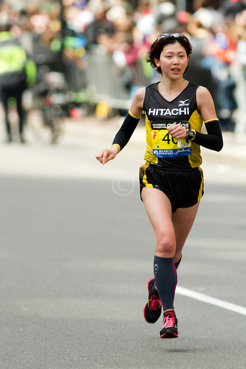 2013 Boston Marathon: Manami Kamitanida, from Japan
